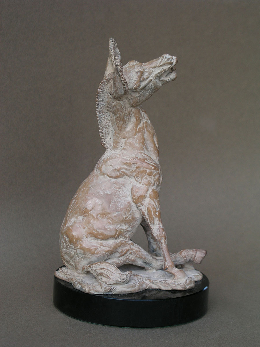 Braying mule - bronze