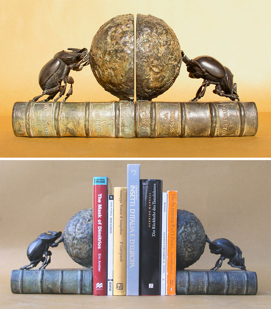 Dung-beetle bookends