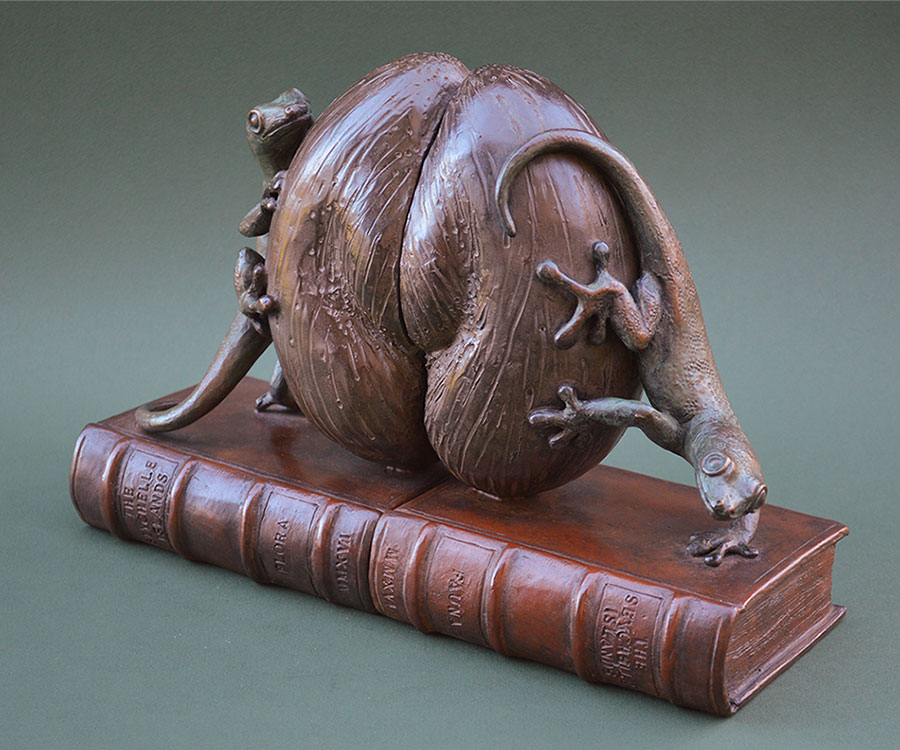 Gecko bookends