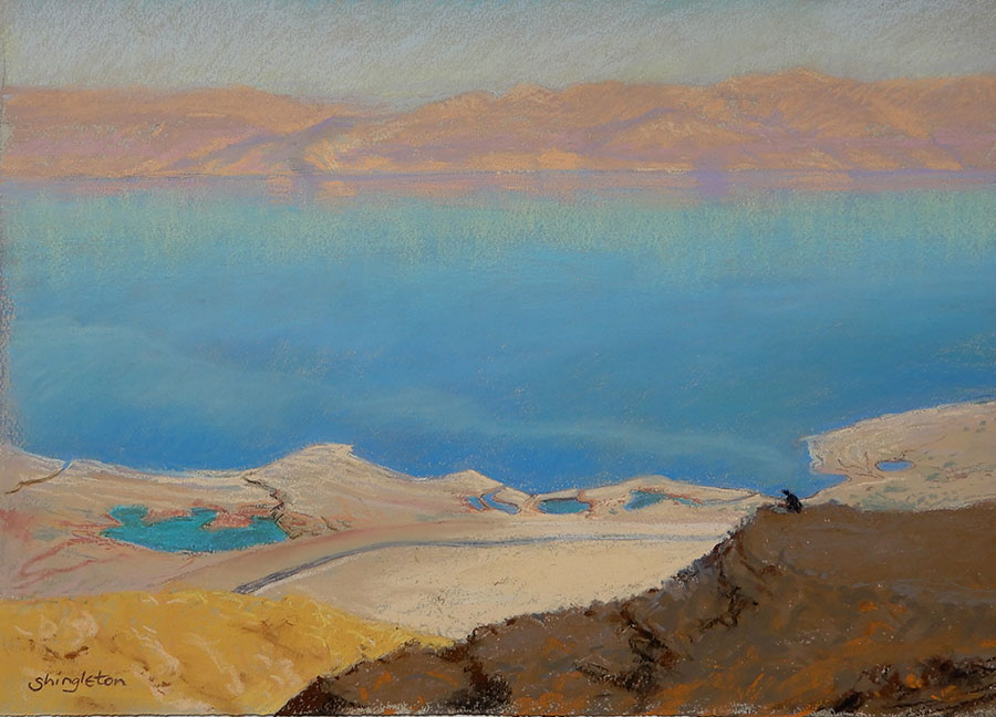 View across the Dead Sea to Jordan