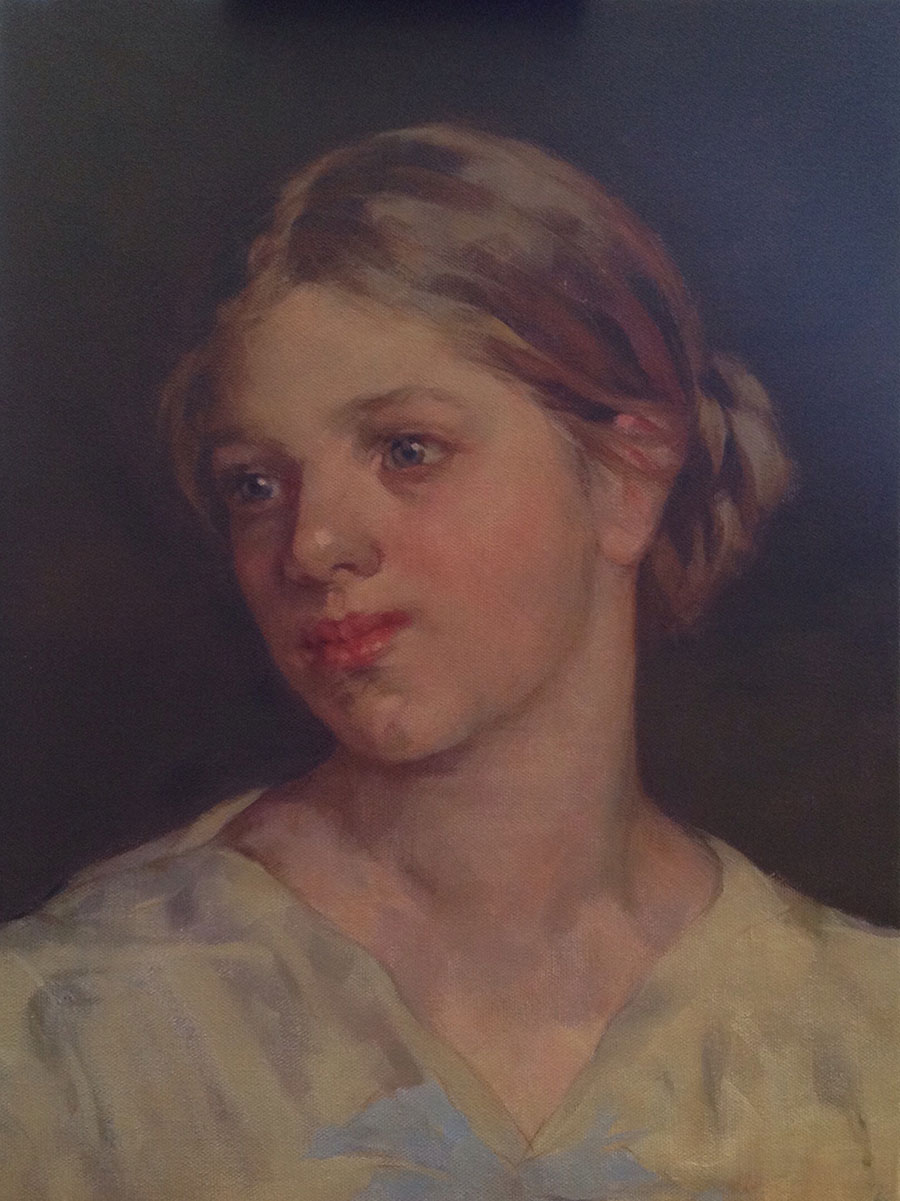 portrait of a young girl by Nera Simi